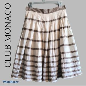 Club Monaco pleated and Lined A-line skirt | 6